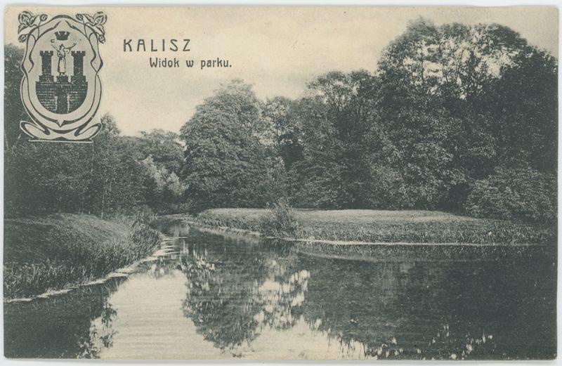 Widok w parku, Kalisz