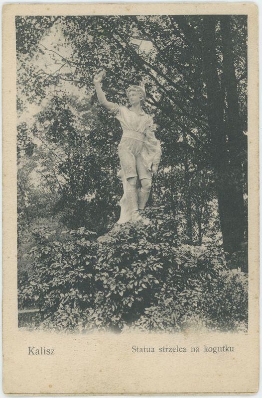 Statua strzelca na kogutku, Kalisz