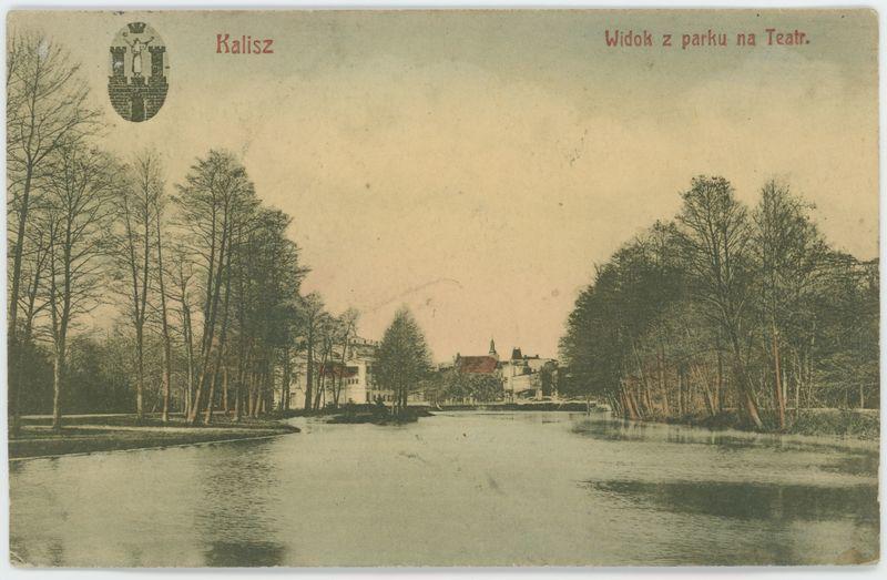 Widok z parku na Teatr, Kalisz