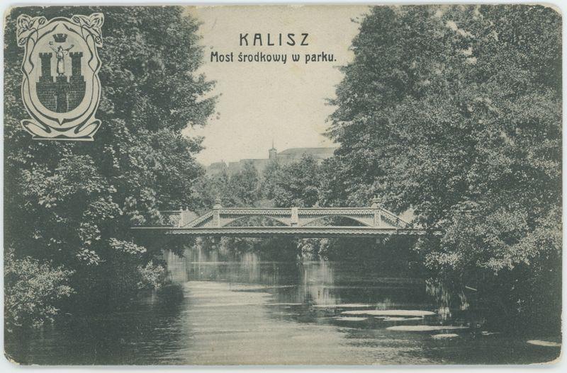 Most środkowy w parku, Kalisz