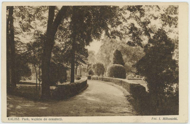 Park wejście do oranżerji, Kalisz