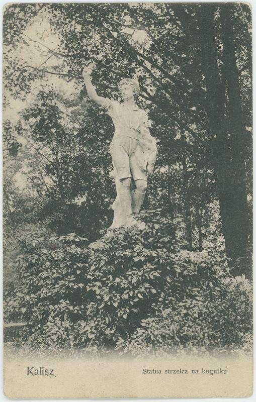 Rzeźba strzelca na kogutku, Kalisz