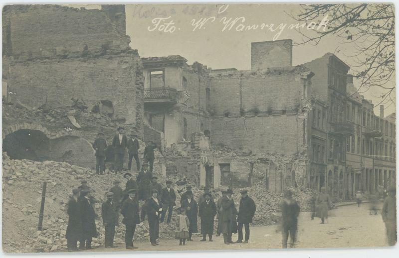 Kalisz po zburzeniu w 1914 r.