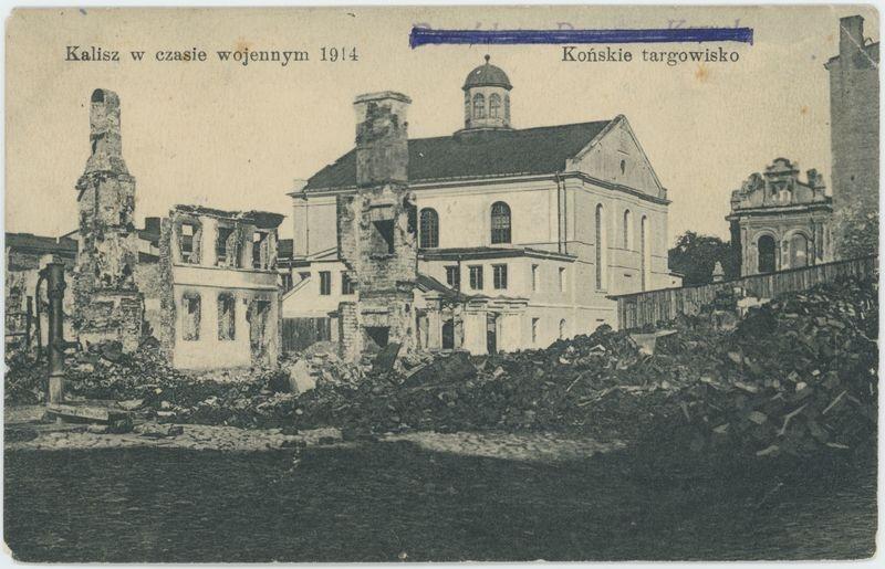 Końskie targowisko, Kalisz w czasie wojennym 1914