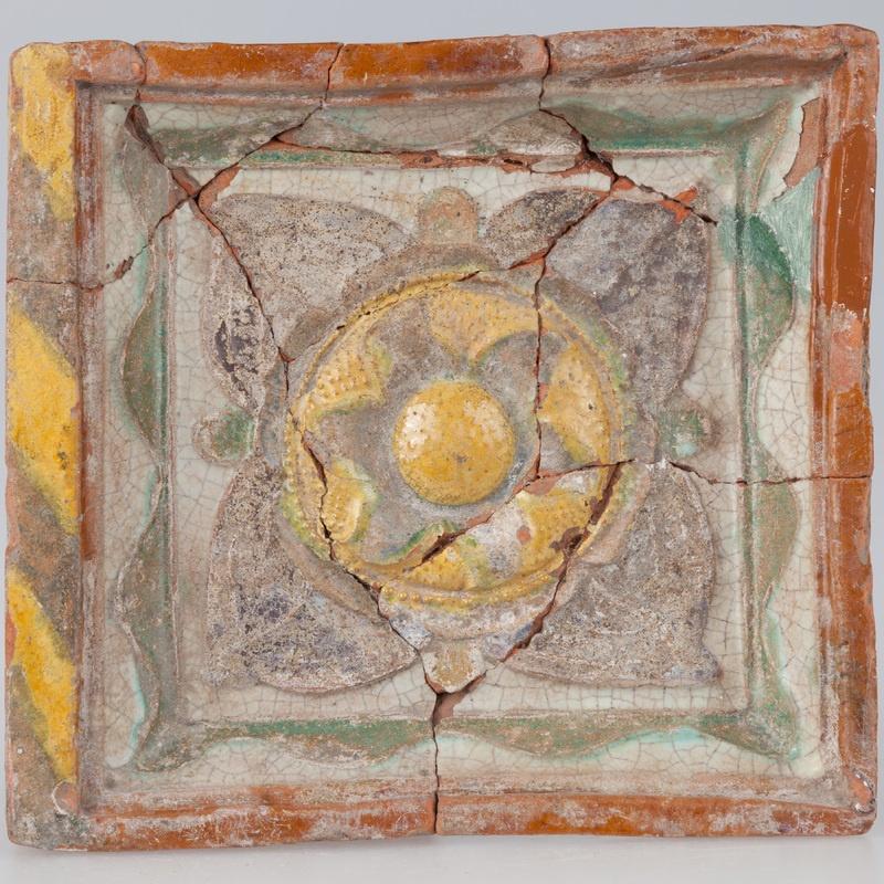 Kafel z rozetą
