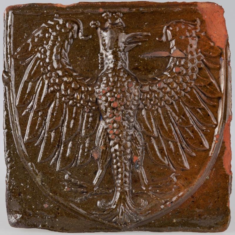 Kafel z herbem Orzeł z koroną