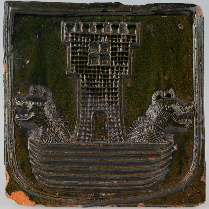 Kafel z herbem Korab