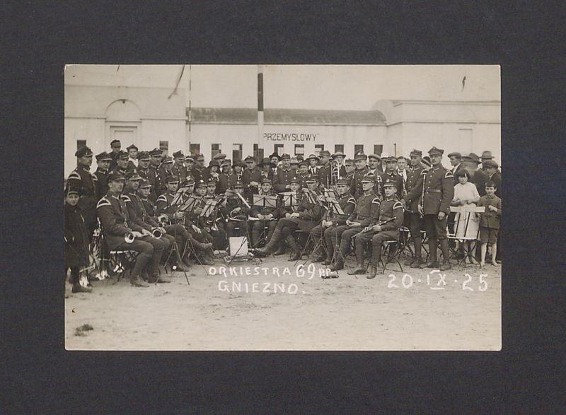Orkiestra wojskowa 69 Pułku Piechoty.