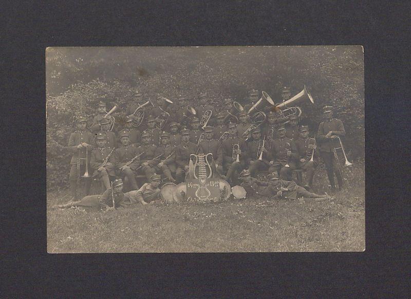 Orkiestra wojskowa 69 Pułku Piechoty w Biedrusku.