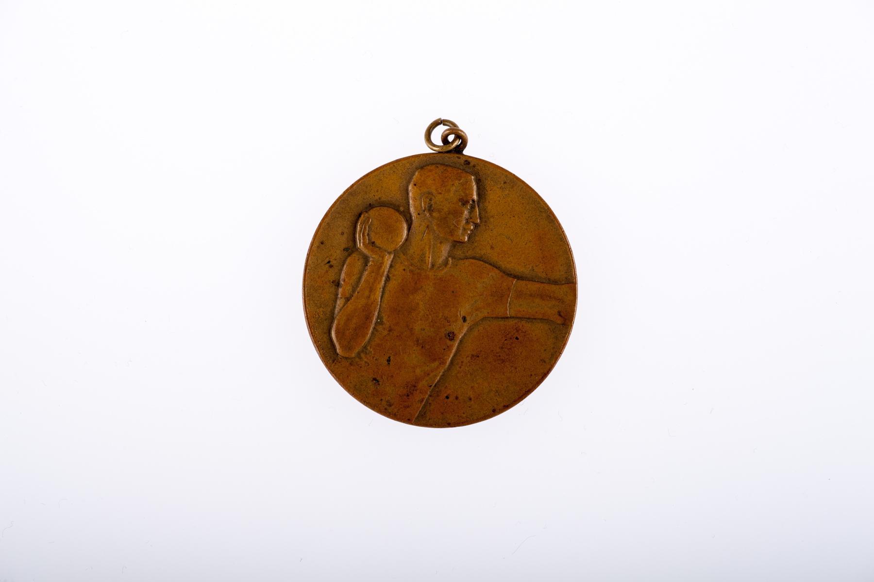 Medal za udział w zawodach w pchnięciu kulą