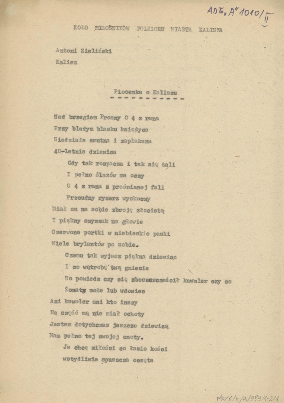 Piosenka o Kaliszu