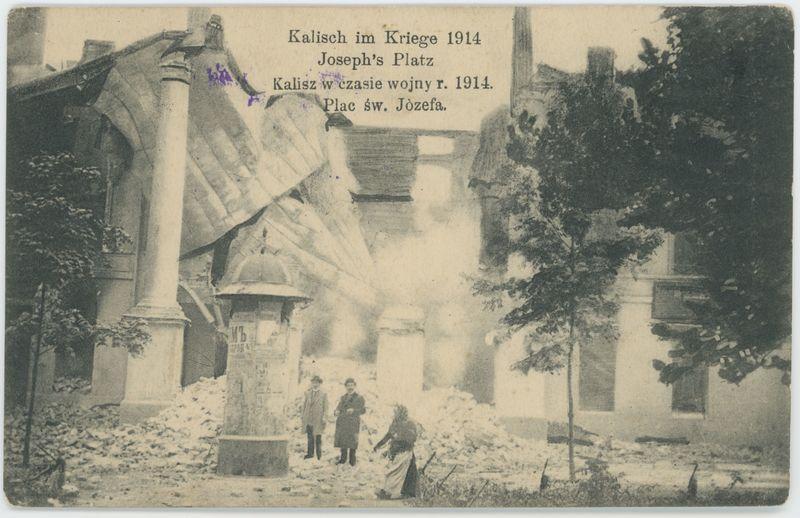 Plac św. Józefa, Kalisz w czasie wojny r. 1914