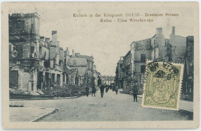 Ulica Wrocławska, Kalisz 1914/15