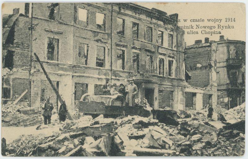 Narożnik Nowego Rynku i ulica Chopina, Kalisz w czasie wojny 1914