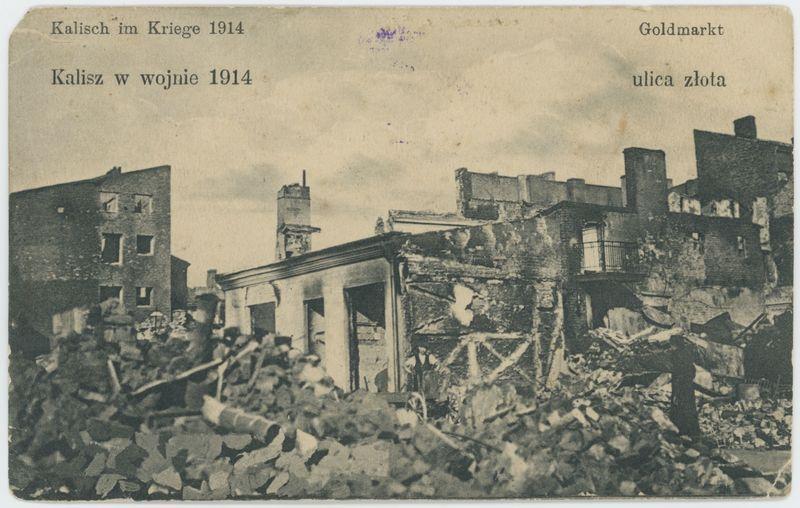 Ulica Złota, Kalisz w wojnie 1914